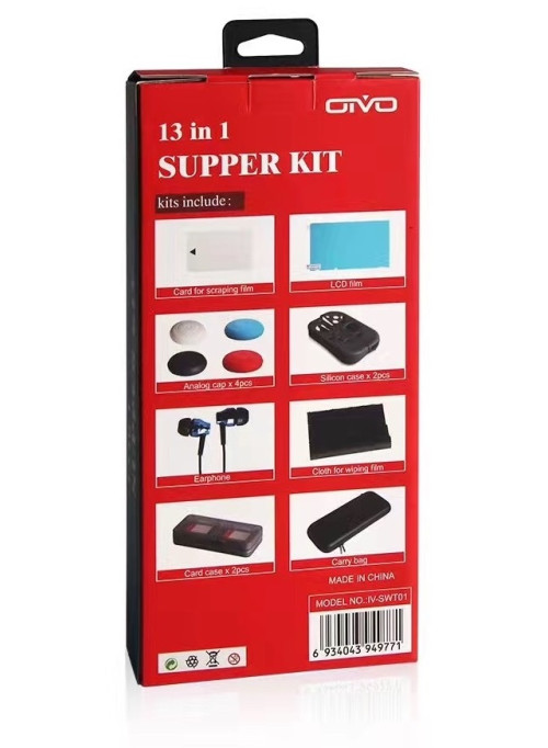 Набор аксессуаров OIVO Super Kit 13 в 1 (IV-SWT01) (Nintendo Switch)