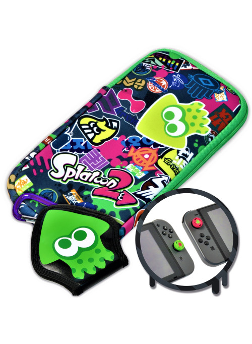 Набор аксессуаров HORI Splatoon 2 (Splat pack) (NSW-048U) (Nintendo Switch)