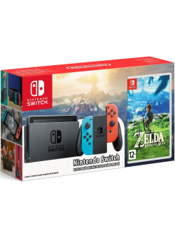 Игровая приставка Nintendo Switch (Neon Red/Neon Blue) + The Legend of Zelda: Breath of the Wild