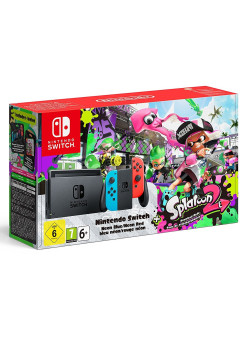 Игровая приставка Nintendo Switch (Neon Red/Neon Blue) + Splatoon 2