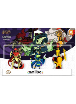 Набор из 3 фигурок Amiibo Shovel Knight Treasure Trove Shovel Knight Коллекция