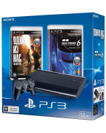 PlayStation 3 Super Slim 12Gb + Одни из нас + Gran Turismo 6 (CECH-4308A)