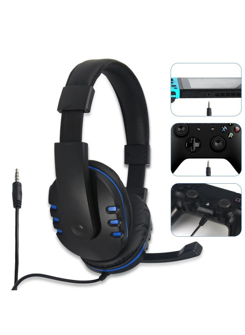 Гарнитура проводная 3 в 1 Stereo Gaming Headphone DOBE (TY-1731) WIN/PS4/Xbox One/Switch/Android/IOS