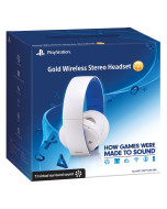 Гарнитура Gold Wireless Stereo Headset White (PS Vita)