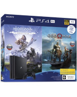 Игровая приставка Sony PlayStation 4 Pro 1Tb Black (CUH-7208B) + Horizon Zero Dawn Complete Edition + God Of War