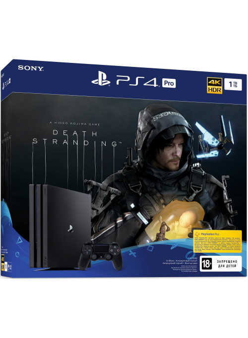 Игровая приставка Sony PlayStation 4 Pro 1Tb Black (CUH-7208B) + Игра Death Stranding