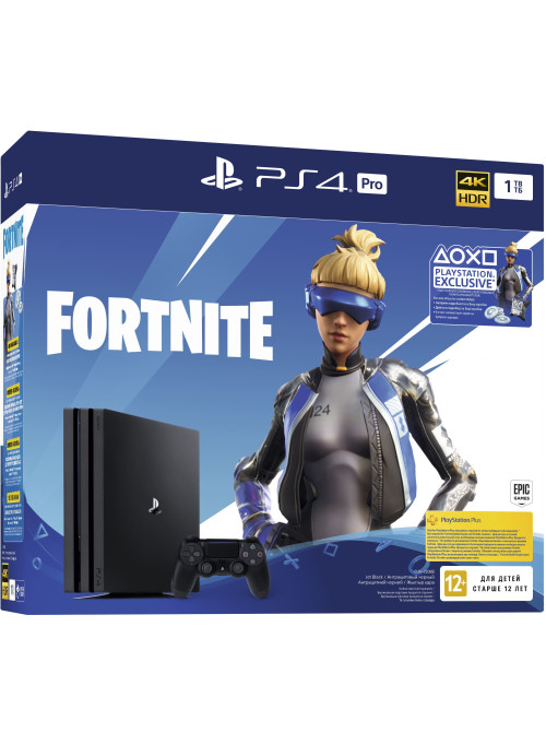Игровая приставка Sony PlayStation 4 Pro 1Tb Black (CUH-7208B) + Игра Fortnite