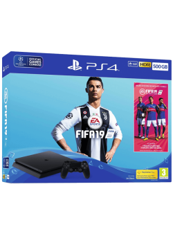 Игровая приставка Sony PlayStation 4 Slim 500Gb Black (CUH-2216A) + Игра FIFA 19