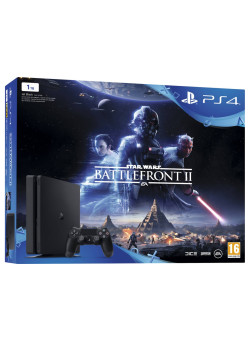 Игровая приставка Sony PlayStation 4 Slim 1TB Black (CUH-2116B) + Star Wars: Battlefront II