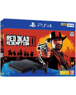 Игровая приставка Sony PlayStation 4 Slim 500Gb Black (CUH-2216A) + Игра Red Dead Redemption 2