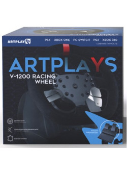 Руль с педалями Artplays Premium Leather Edition V-1200 (WIN/PS4/PS3/Xbox 360/Xbox One/Switch)