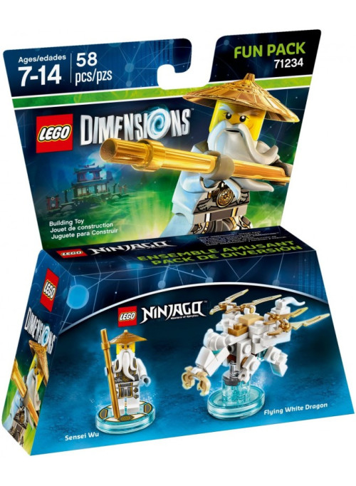 LEGO Dimensions Fun Pack (71234) - Lego Ninjago: Masters of Spinjitzu (Sensei Wu, Flying White Dragon)