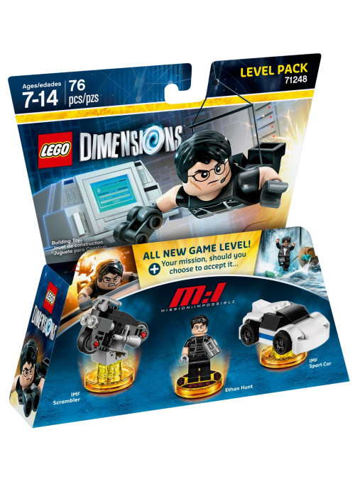 LEGO Dimensions Level Pack (71248) - Mission Impossible (IMF Scrambler, Ethan Hunt, IMF Sport Car)