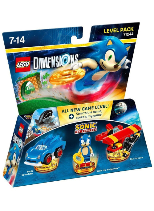 LEGO Dimensions Level Pack (71244) - Sonic the Hedgehog (Sonic the Hedgehog, Sonic Speedster, The Tornado)