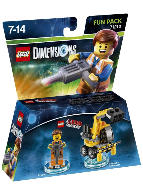 LEGO Dimensions Fun Pack (71212) - Lego Movie (Emmet, Emmet's Excavator)