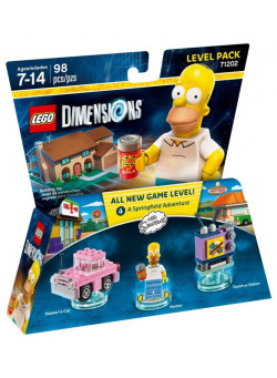 LEGO Dimensions Level Pack (71202) - The Simpsons (Homer's Car, Homer, Taunt-o-Vision)
